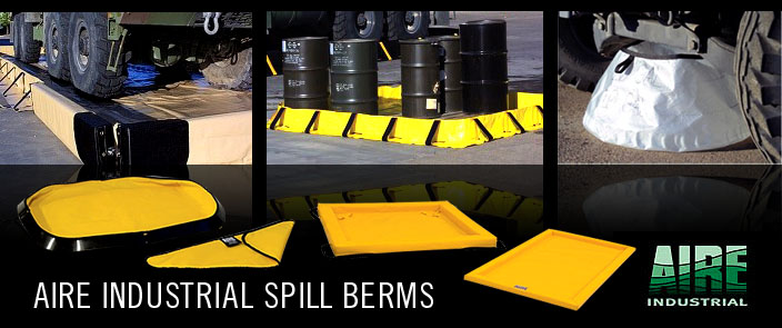 AIRE Spill Containment Berms and Foam Pads