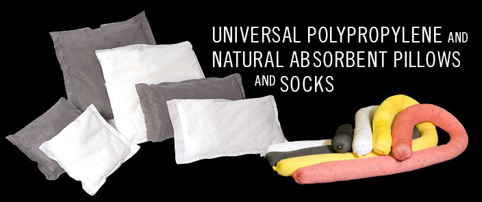 Universal Polypropylene and Natural Absorbent Pillows and Socks